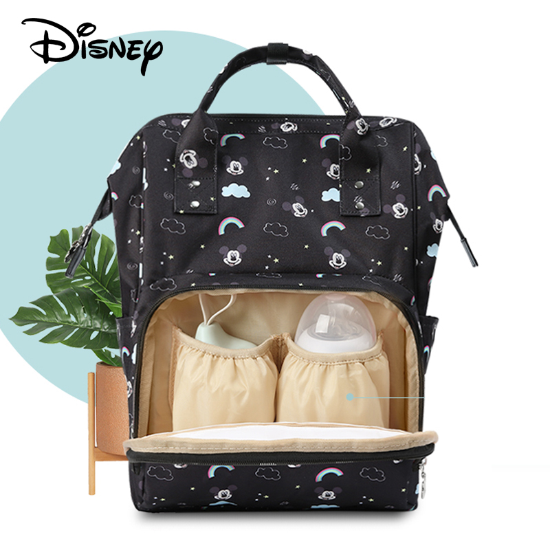Disney Diaper Bag Mummy Nappy Bag Multi-function Large Capacity Waterproof Backpack Baby Care Travel Backpack Wet Bag