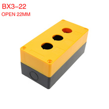 BX3-22 three-hole button box 3 hole button switch box control box 3 open hole 22mm.