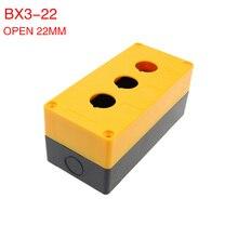 BX3 22 three hole button box 3 hole button switch box control box 3 open hole