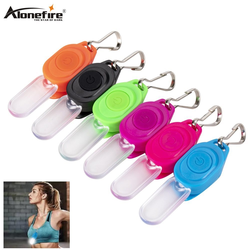 Alonefire Y04 2pcs High Visibility Accessories Night Mini LED Flashing Zipper Pulller Light Keychain Light LED Safety Light