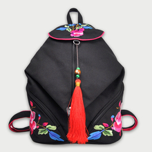 Canvas Embroidered Backpack College Student School Backpack Bags for Teenagers Mochila Casual Rucksack Travel Daypack Back Bag