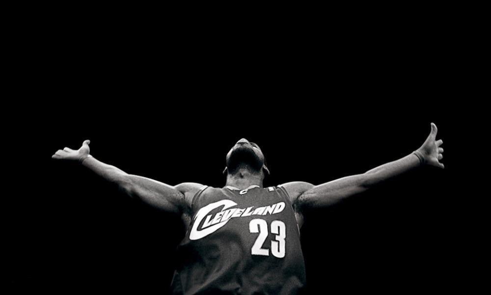Michael Jordan Vs Lebron James Basketball Star Watercolor Inkjet