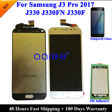 Pantalla LCD para Samsung J3 Pro 2017 J330, montaje de digitalizador con pantalla táctil, ajuste de brillo