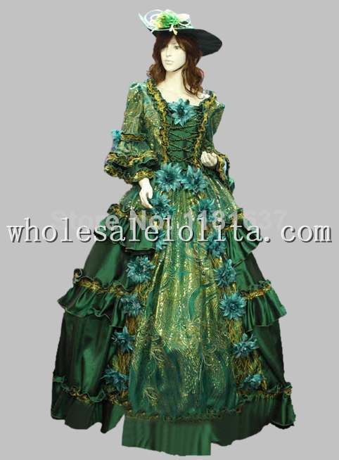 Baroque Costume Spéciale Siècle Antoinette Offre Robe Vert Rococo Européenne 18th Marie Green17 Cour Cosplay 47wxqgH8x