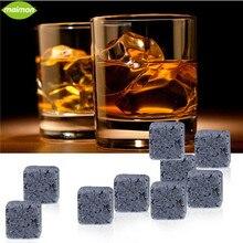 9 unids/set Natural piedras del Whisky cubo de hielo del Whisky Whisky , piedra , roca refrigerador para Bar del hogar del banquete de accesorios para el vino Chopeira