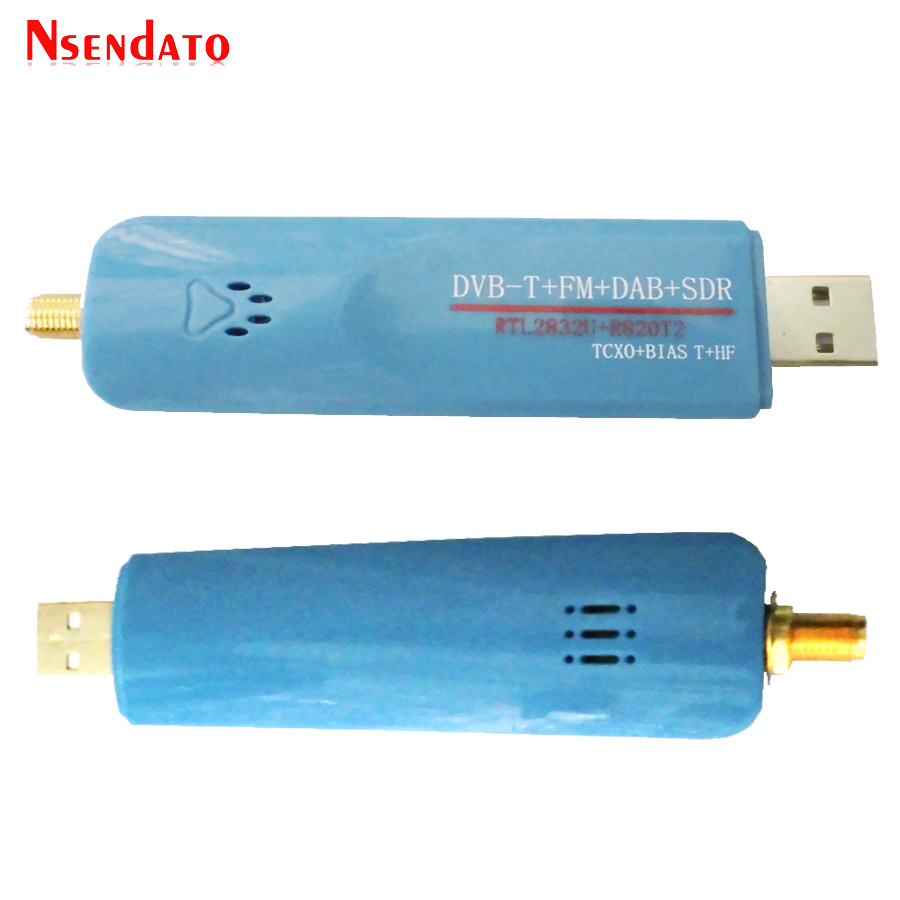 Digital USB 2 0 RTL SDR Smart DVB-T TV Stick SDR+DVB-T+DAB+FM RTL2832U  R820T2 500KHz-1 7GHz SDR TV Tuner Receiver With Antenna