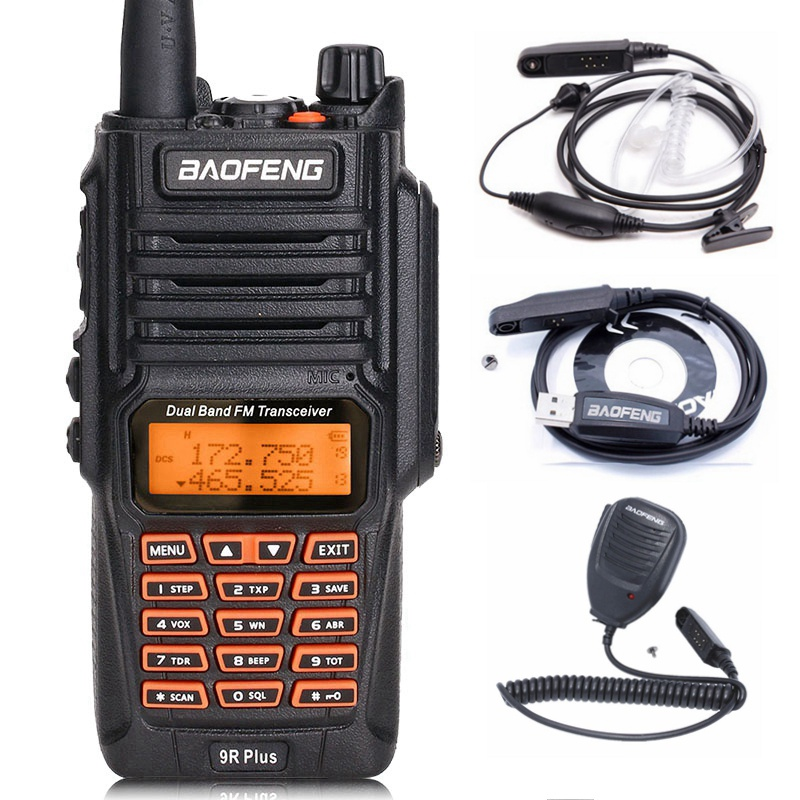 BaoFeng UV-9R Plus Водонепроницаемая портативная рация 8 Вт UHF VHF Двухдиапазонный IP67 HF трансивер UV 9R Ham портативное радио - Цвет: as pic show