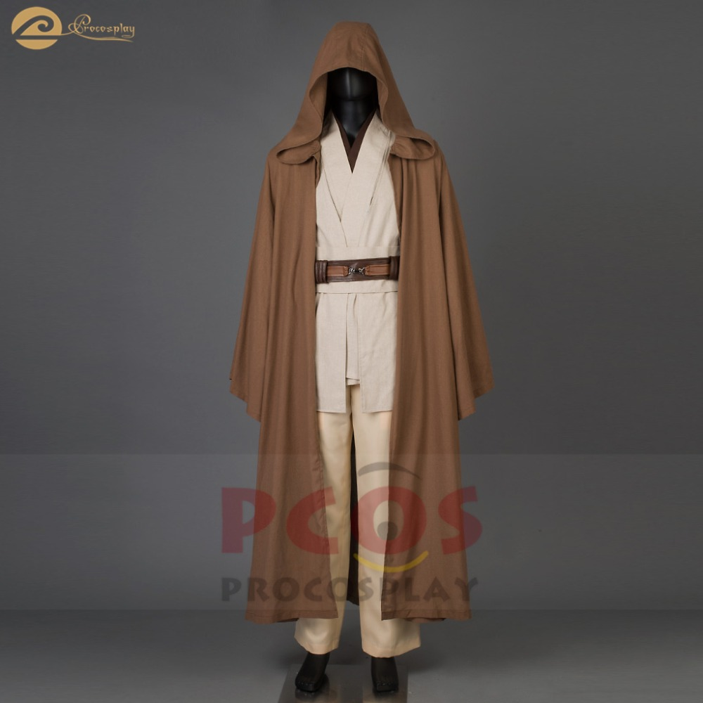 New Star Wars ramie cotton fabric & pleather& uniform Jedi RP Wan Obi Wan Kenobi Cosplay Costume  cosplay costume mp003184