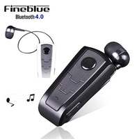 Wireless Bluetooth Earphone FineBlue F910 Calls Remind Vibration Headset With Collar Clip Headphone For SmartPhone Handfree
