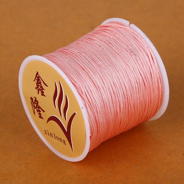 50 метров 0,8 мм нейлоновый шнур, китайский Узелок, шнур макраме, браслет, плетеный шнур, бисероплетение, сделай сам, ювелирный шнур, нить - Цвет: Orange Red