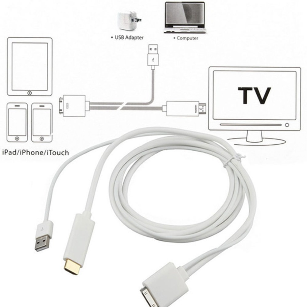 iphone 5 hdmi cable 1pcs dock to hdmi hdtv tv adapter usb cable for apple for 14525