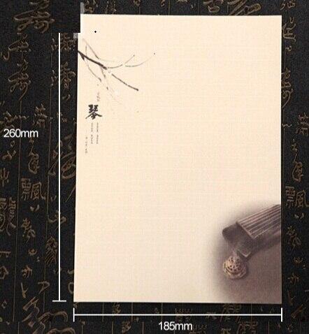 Hot selling 260*185mm.retro Elegant style Simple Kraft paper letter paper set.greeting letter paper
