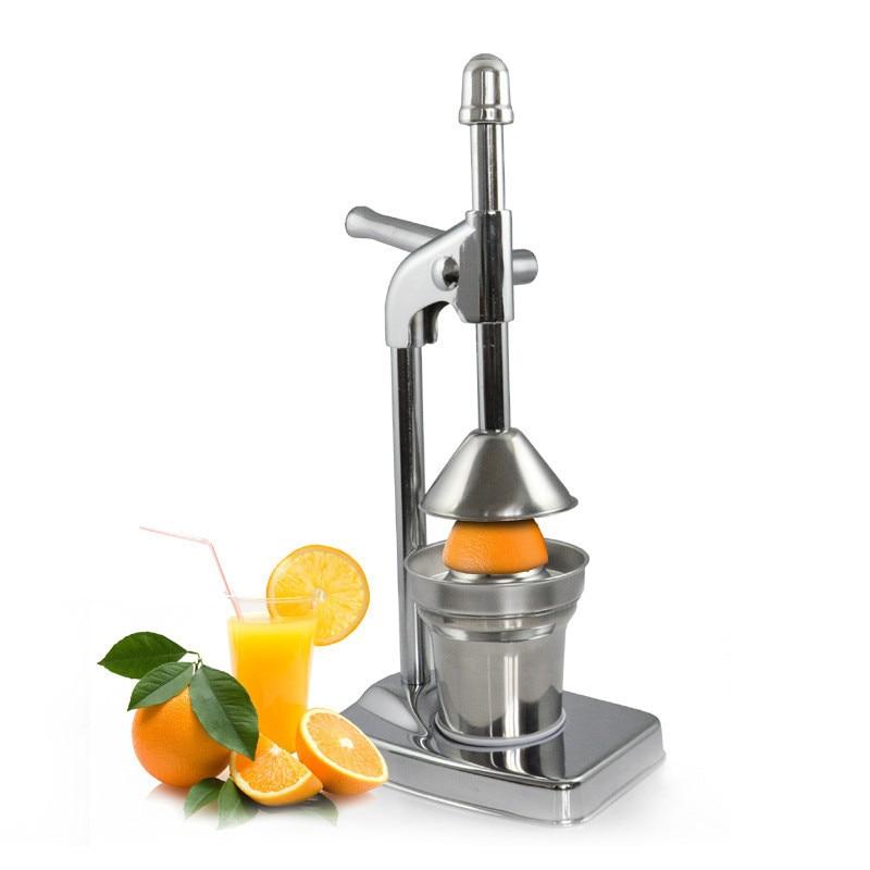 Portable Manual Press Juicer Machine Blender Dispenser Press Citrus Stainless Steel Lemon Orange Pomegranate Slow Fruit