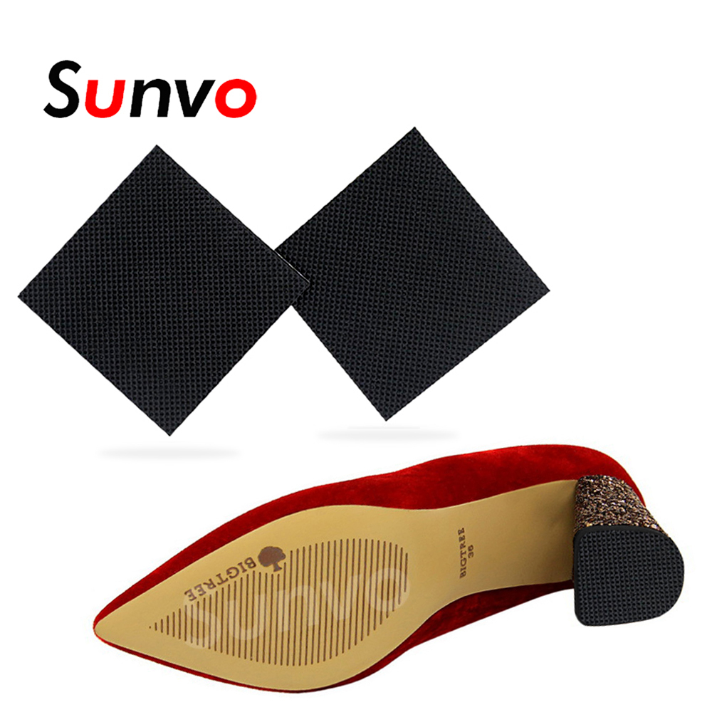 2Pcs Anti-Slip Shoes Sole Protector Pad For Women High Heel Sandal Outsole Rubber Adhesive Ground Grip Shoe Bottom Sticker Pads