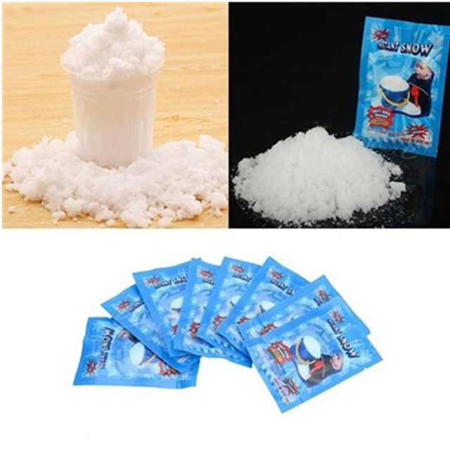 Christmas Fake Magic Instant Snow Fluffy Super Absorbant Decorations For Christmas Wedding 5PCS/Bag 1