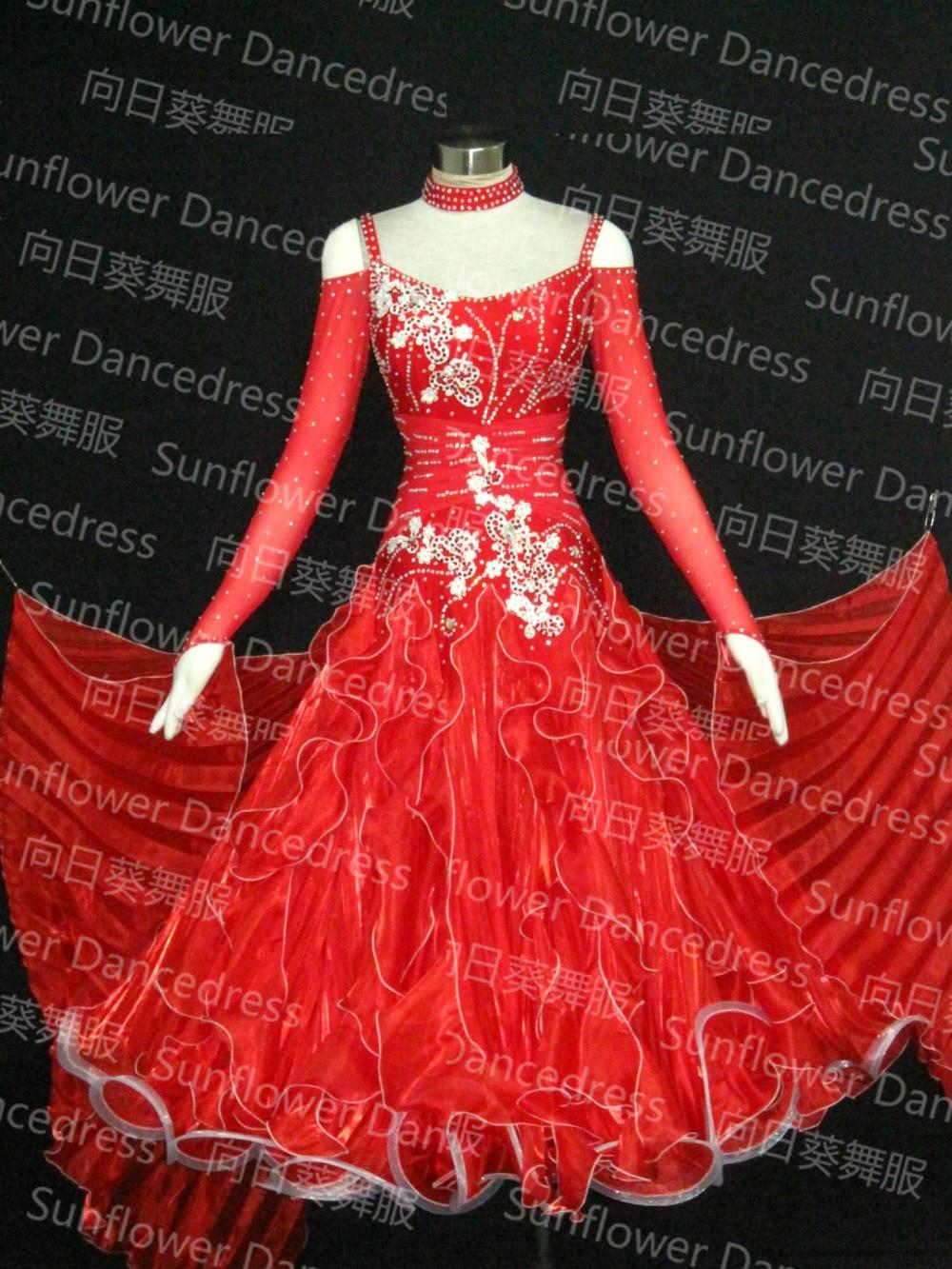 Sunflower Dancedress, Waltz Tango Ballroom Dance Dress, Girls/Women Modern Dance/Perform Costume/Wear,  S M L LL  Size,