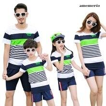 Одинаковая одежда для семьи; модная одежда для мамы и дочки; футболка и шорты; комплекты одежды для папы и сына; одежда для мамы и сына