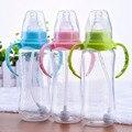 240 ml Bonito Mamadeira para o Bebê Recém-nascido Da Menina do Menino Do Bebê Aprender a Beber Copo com Alça de Palha De Água Suco De Treinamento copos