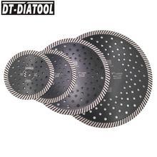 DT-DIATOOL Diamond Hot Pressed Narrow Turbo Saw Blade Multi Holes diamond disc Cutting Granite Marble Concrete Masonry