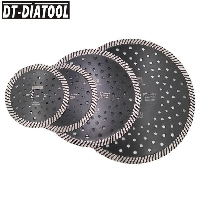 """DT-DIATOOL Diamond Hot Pressed Narrow Turbo Saw Blade Multi Holes diamond disc Cutting Granite Marble Masonry  4"""" 4.5"""" 5"""" 7"""" 9"""""""