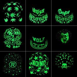 Кепка с зелеными светящимися темными Snapback, флуоресцентная Кепка в стиле хип-хоп с изображением маленьких звезд, повседневные светящиеся бейсболки, подходящие шапки для мужчин и женщин 302