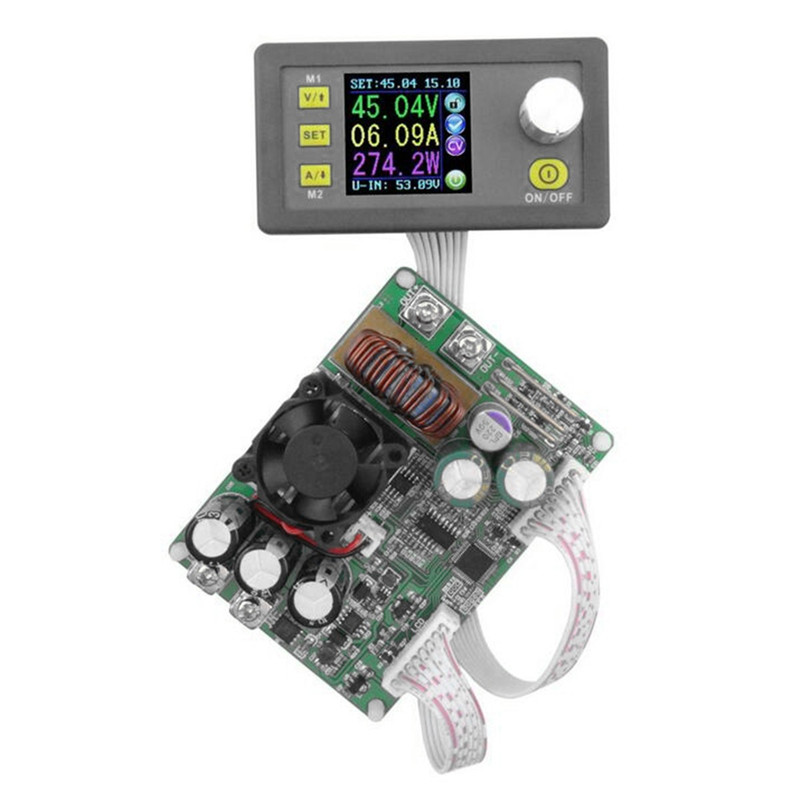 DPS5015 Constant Voltage Current Step-down Programmable Digital Power Supply buck Voltage converter color LCD voltmeter 15A ifree fc 368m 3 channel digital control switch white grey