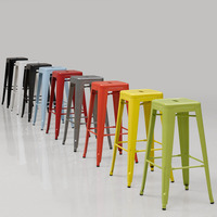 Промышленные Стиль металла Кухня обеденный стулья Табурет гладить, модные повседневные стул