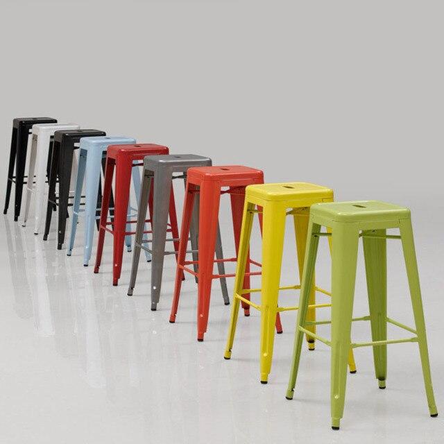 Industriellen Stil Metall Küche Stühle Hocker eisen stuhl, mode ...