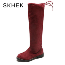 SKHEK Children Over Knee Boots Girl Shoes Fashion 2018 Autumn And Winter Princess Girls Students Mama