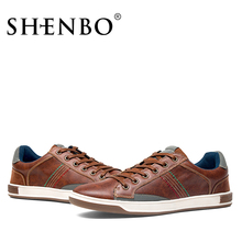 SHENBO Brand New Style Retro Style Men Shoes, High Quality Men Casual Shoes, Lace Up Casual Shoes Men