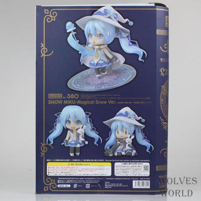 Figurine d'anime 10 CM Nendoroid vocaloïde Hatsune Miku neige Miku magique neige Ver PVC Action cinquième Collection jouet poupée