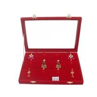 Mordoa 12 lattice Jewelry Display Tray Necklace Holder Pendant Storage Box Ring Earring Case Bracelet Organizer Bangle Showcase