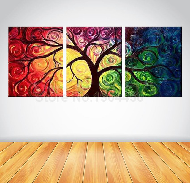 Large Abstract Wall Art aliexpress : buy framed hand painted canvas oil painting set