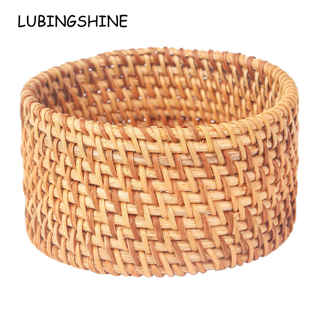 Ethnic Handmade Wide Natural Plant Straw Rattan Woven Round Bracelet &bangles Jewelry For Women Fashion Statement Jewelry Gift Latest Technology Bangles Jewelry & Accessories