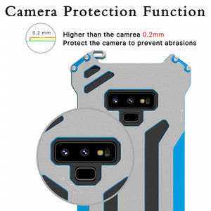 Image 4 - R net Armor Case Metal protect Voor Samsung Galaxy Note 8 S7 Rand S8 Plus Schokbestendig Stofdicht Cover voor galaxy Note 9