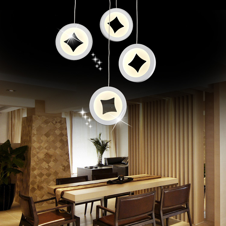 Contemporary and contracted LED three head restaurant meals chandeliers bar cafe shop personality fashion light lamps цена