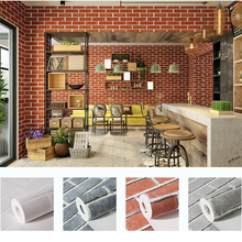 2019 New Chinese retro brick brick wallpaper hotel restaurant tea white brick brick wallpaper 3D non-woven wallpaper цена 2017
