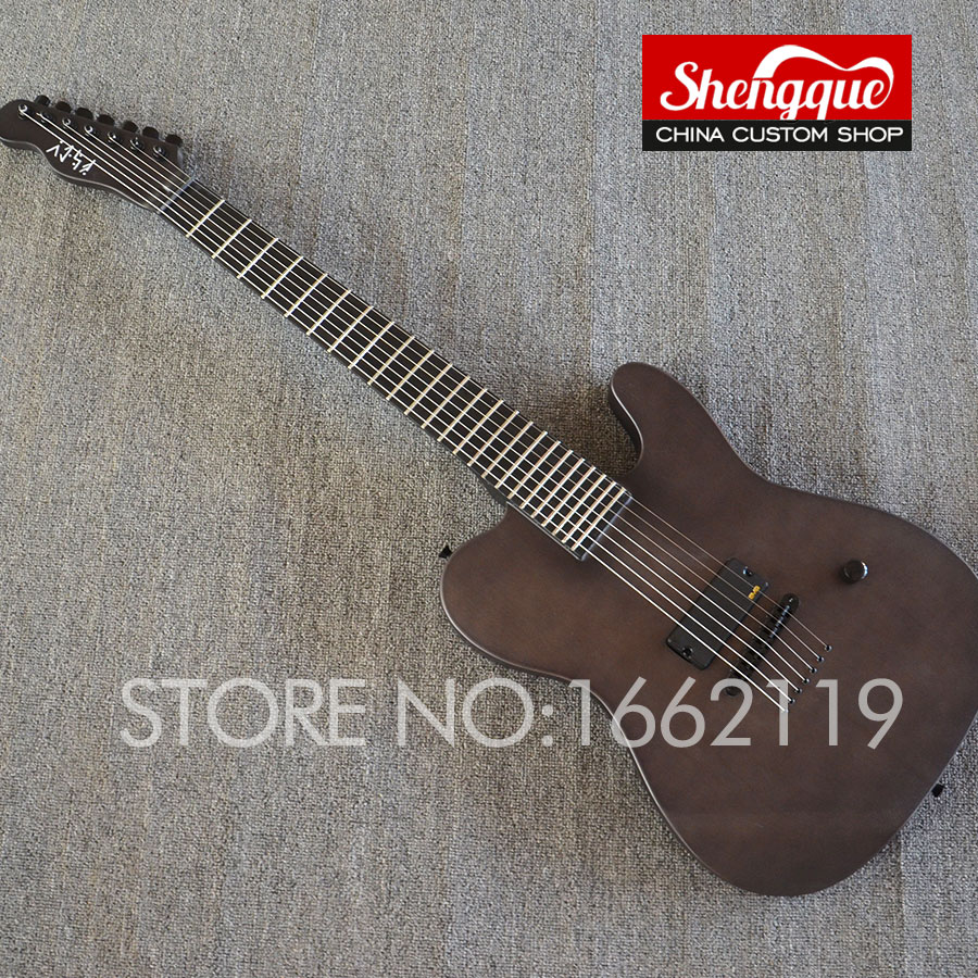 buy shengque factory custom tele guitar 7 strings with matt paint top quaility. Black Bedroom Furniture Sets. Home Design Ideas
