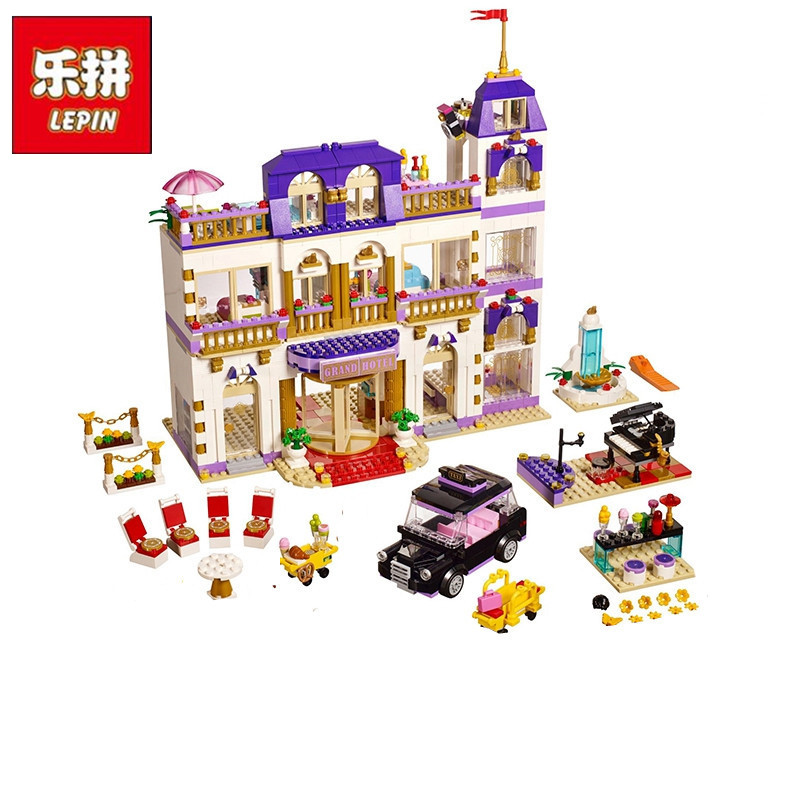 Lepin 01045 1676Pcs Girls Series The Heartlake Grand Hotel Fun Children Eucational Building Blocks Bricks Toys Model Gift 41101 lepin 01045 1676pcs girls series heartlake grand hotel set children eucational building blocks bricks toys model gift 41101