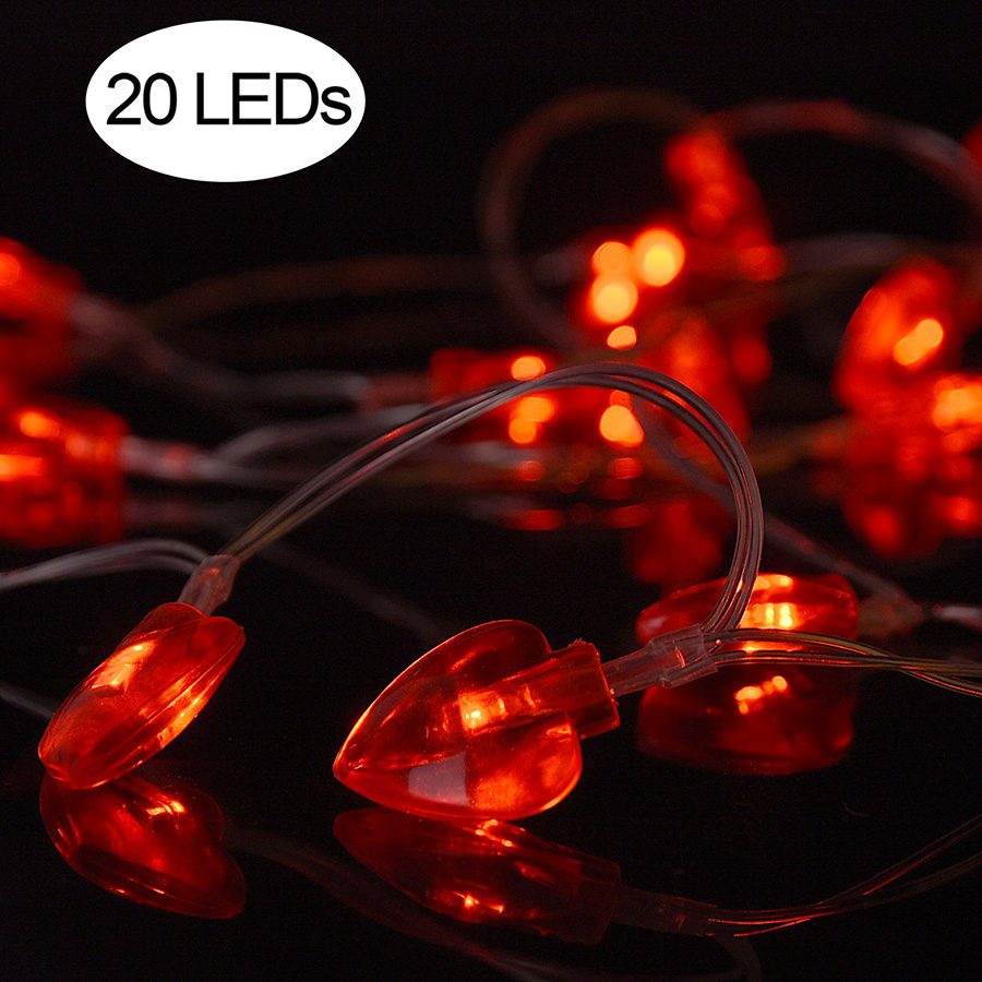 10/20/30/40leds Love Heart Wedding Led String Fairy Light Room Garden Christmas Party New Year Decoration Lights Holiday Garland