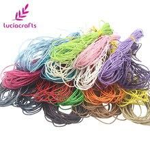 Lucia crafts 5 ярдов/партия 1 мм Вощеная хлопковая нить веревка проволока для браслетов швейная кожа ручной работы шнур материалы W0704