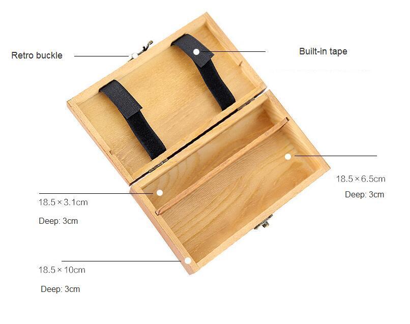 lápis de papelaria, armazenamento de jóias caixa de lápis de madeira maciça