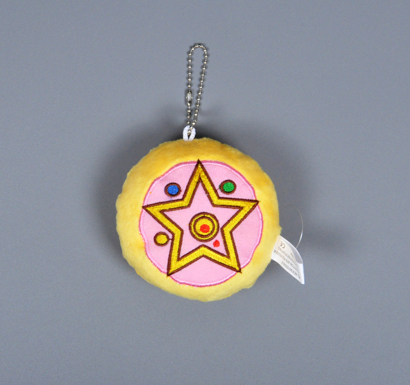 Anime Sailor Moon plush toy Cartoon Cardcaptor Sakura Plush Keychain Heart Crown pattern stuffed doll Sweet Cute girl key ring
