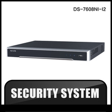 HIK DS-7608NI-I2  DHL original english version 8ch NVR supporting third-party camera, plug & play H.265 NVR for IPC cam