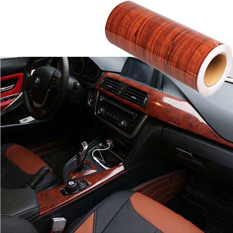 Wood Grain DIY Car Sticker Decal Film For Honda Civic 2006-2011 2018 Accord 2003 2007 Fit Toyota Corolla RAV4 Yaris Avensis Aygo