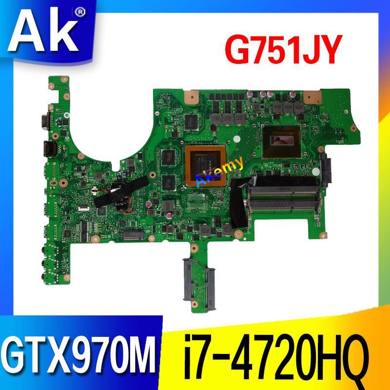G751JY G751JT Motherboard For ASUS G751JY G751JT G751JL G751J G751 Laptop Mainboard HM86 i7 4720HQ GTX970M