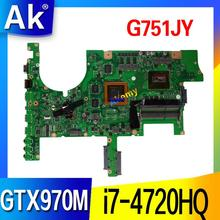 G751JY G751JT материнская плата для ноутбука ASUS G751JY G751JT G751JL G751J G751 материнская плата для ноутбука HM86 i7-4720HQ GTX970M/3 ГБ