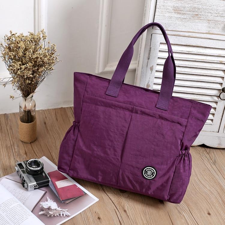2017 Γυναικεία τσάντα Casual Μεγάλη τσάντα ώμου Μόδα Nylon Μεγάλη Tote Μάρκα Luxury Purple Mummy Τσάντες Diaper Αδιάβροχη bolsas