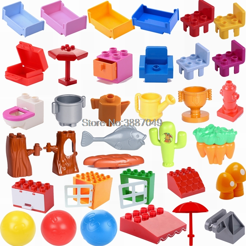Duplo Table Chair Cradle Lou Yi Case Building Block Accessories Home Furnishing