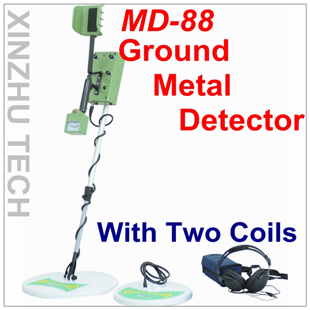 MD-88 Metal Detector Professional Underground Gold Detector MD88 Treasure Hunter With Two Coils detector de metal deep gold underground metal detector md 3010 ii with lcd